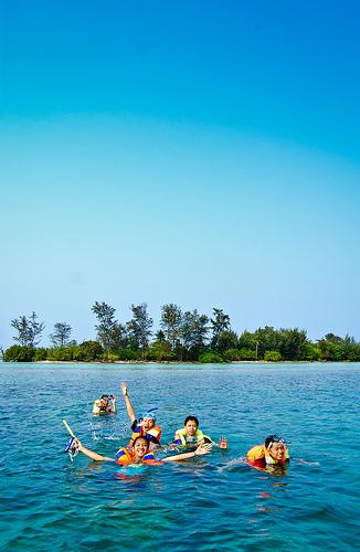 Foto keindahan pulau seribu jakarta photo